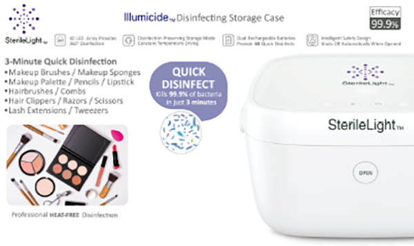 llumicide - UVC Disinfectant for Beauty Salon and Makeup Artists.